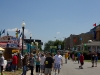 Wide shot of the Indiana State Fair food alley