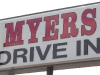 Myers Drive In Sign